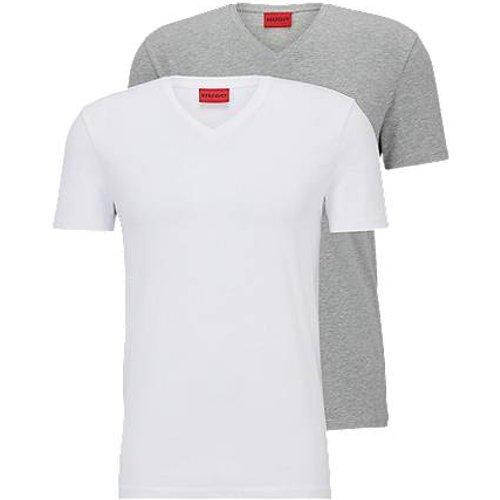 Lot de deux t-shirts à colV en jersey de coton stretch - HUGO - Modalova