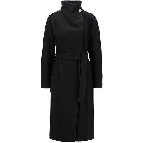 Manteau peignoir en laine vierge mélangée à du cachemire - Boss - Modalova