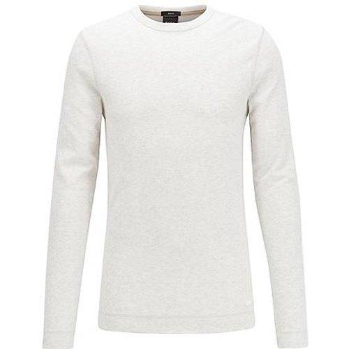 T-shirt Slim Fit à manches longues en coton gaufré - Boss - Modalova