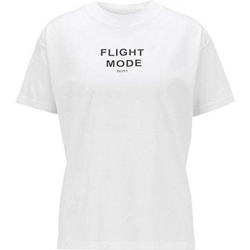 T-shirt Relaxed Fit en coton mercerisé à imprimé en relief - Boss - Modalova