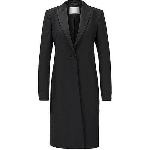 Manteau esprit smoking en twill de laine vierge italienne - Boss - Modalova