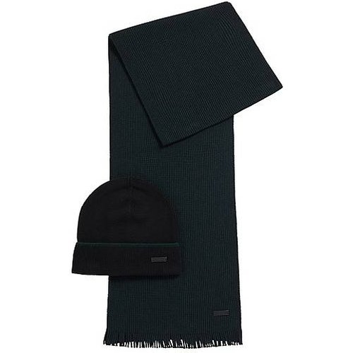 Ensemble bonnet et écharpe en laine rehaussée de cachemire - Boss - Modalova