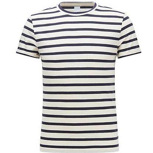 T-shirt à rayures en coton stretch mélangé à teneur en lin - Boss - Modalova