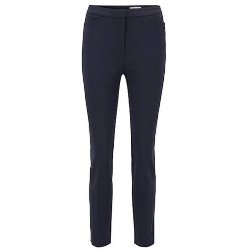 Pantalon Slim Fit en coton stretch mélangé - Boss - Modalova