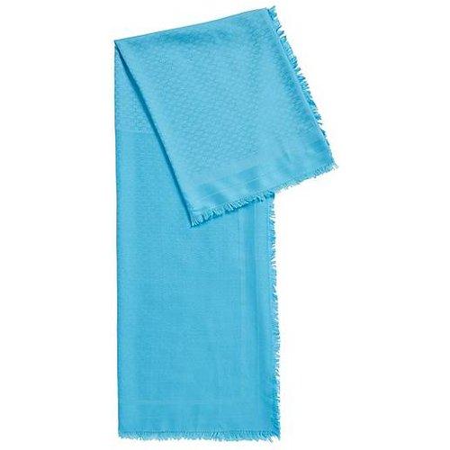 Foulard carré en modal et laine à motif monogrammé - Boss - Modalova