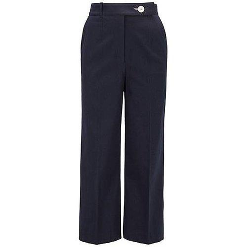 Pantalon large en piqué de coton stretch, à taille haute - Boss - Modalova