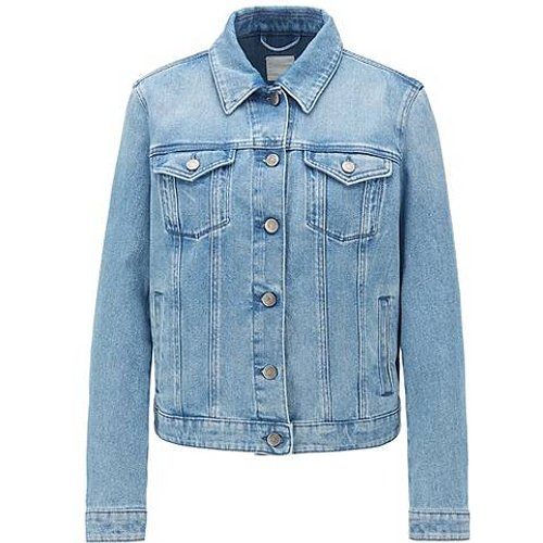 Veste en jean Regular Fit en denim stretch effet délavé - Boss - Modalova