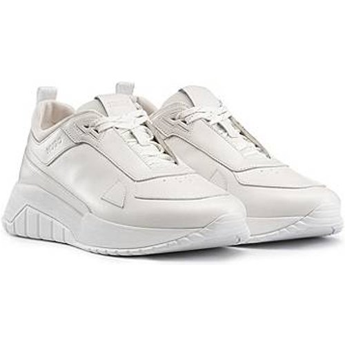 Baskets inspirées des chaussures de course en cuir nappa ton sur ton et mesh - HUGO - Modalova