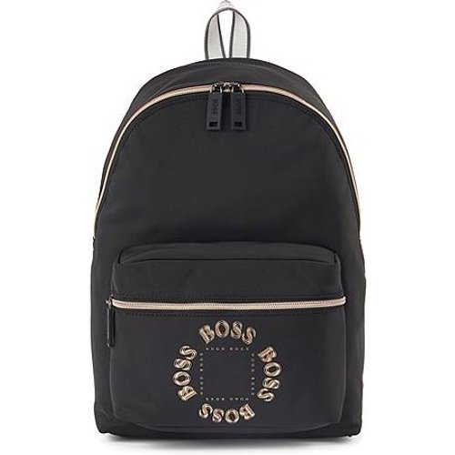 Sac à dos en nylon structuré avec logo métallisé superposé - Boss - Modalova
