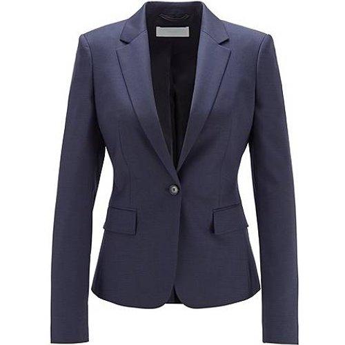 Veste Regular Fit en laine à micromotif - Boss - Modalova