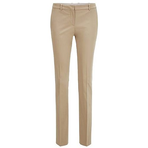 Pantalon Regular Fit en satin de coton stretch - Boss - Modalova