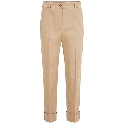 Pantalon raccourci Relaxed Fit en twill de coton stretch - Boss - Modalova