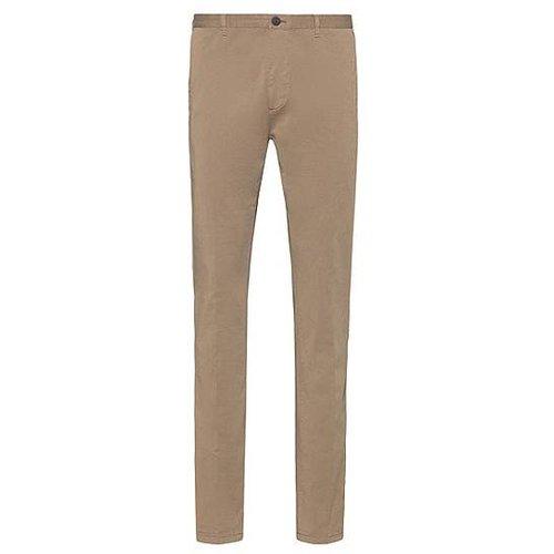 Pantalon Slim Fit en coton stretch teint en pièce - HUGO - Modalova