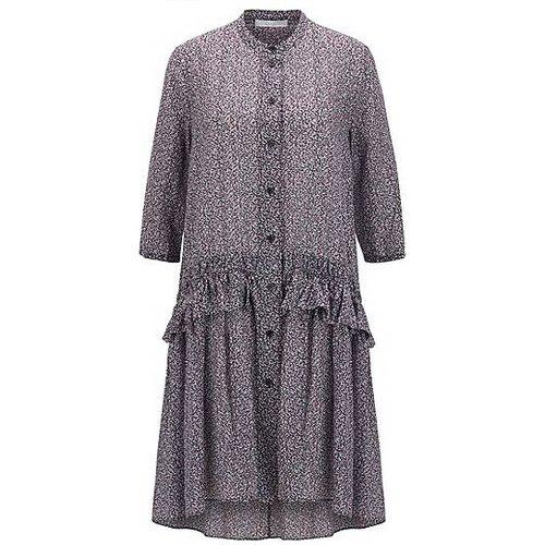 Robe tunique Relaxed Fit imprimée en coton et soie - Boss - Modalova