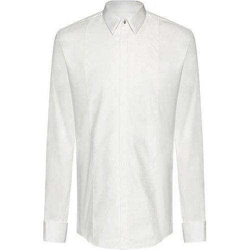Chemise Slim Fit habillée à plastron à carreaux ton sur ton - HUGO - Modalova