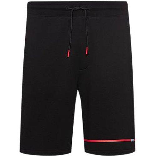 Short en molleton à rayures et logo contrastants - HUGO - Modalova