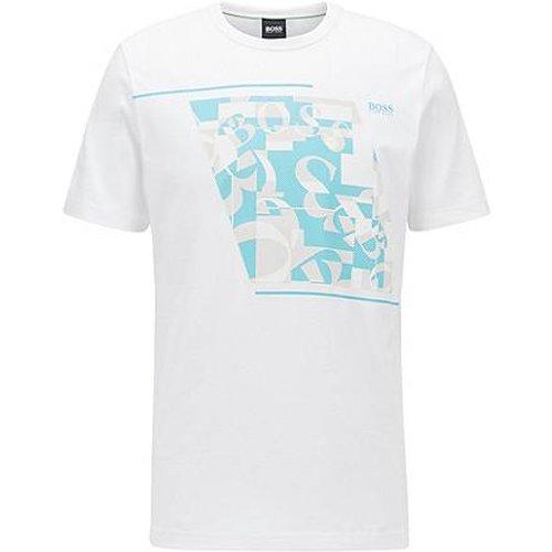T-shirt en coton à logo imprimé abstrait - Boss - Modalova