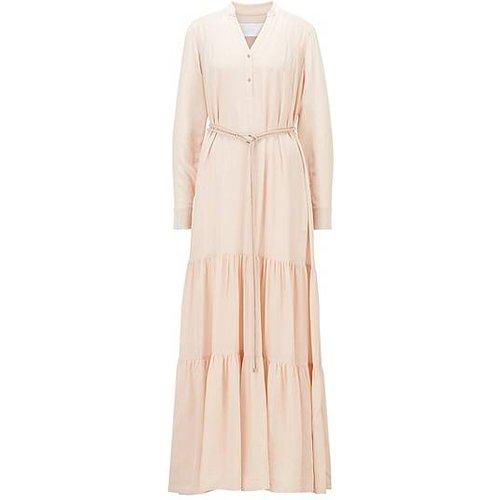 Robe longue en soie à jupe volumineuse - Boss - Modalova