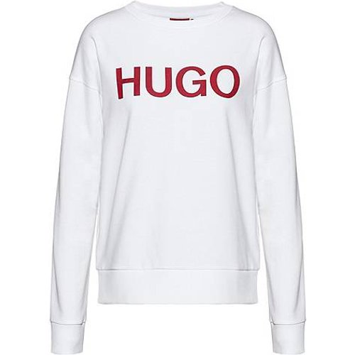 Sweat à logo en molleton de coton biologique - HUGO - Modalova
