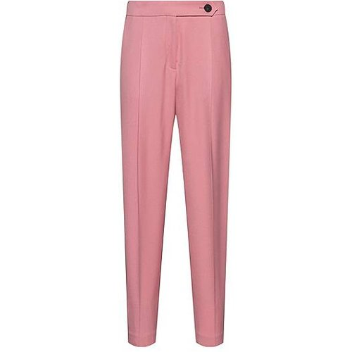 Pantalon court Tapered Fit en tissu stretch - HUGO - Modalova