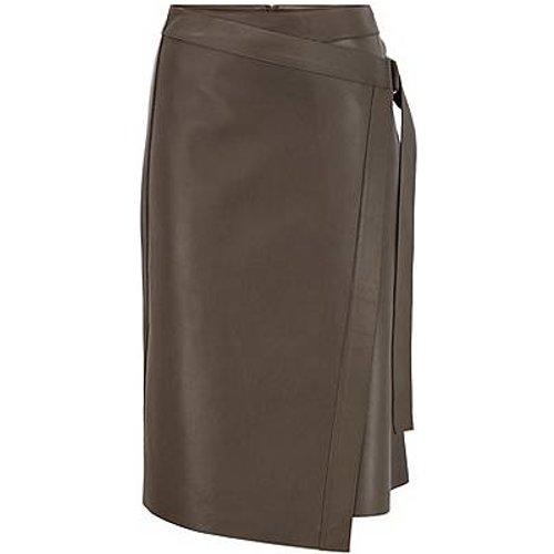 Jupe portefeuille en cuir nappa avec anneau en D - Boss - Modalova