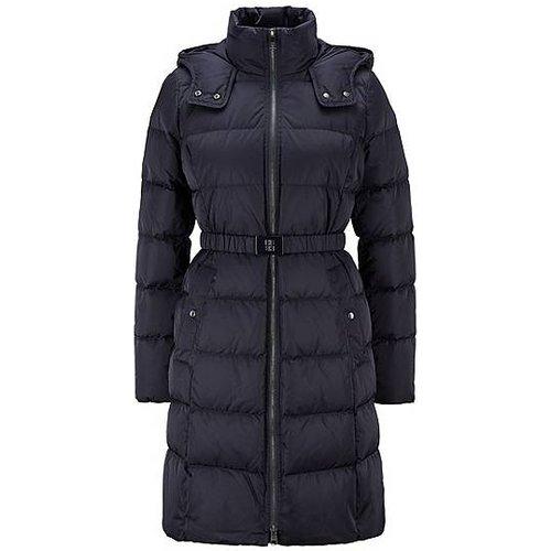 Manteau doudoune long, à capuche et ceinture - Boss - Modalova