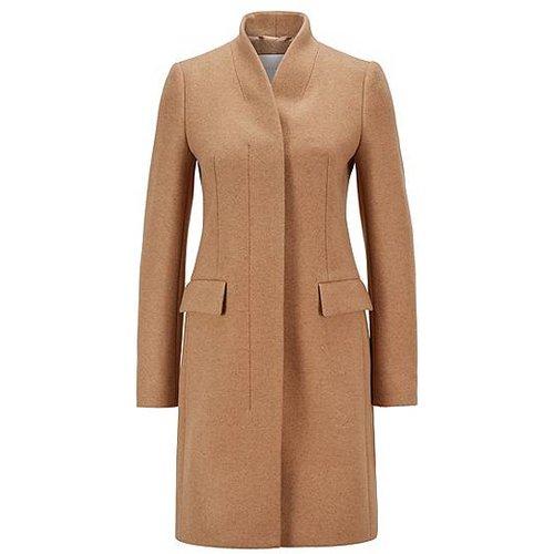 Manteau élégant en laine mélangée chinée - Boss - Modalova