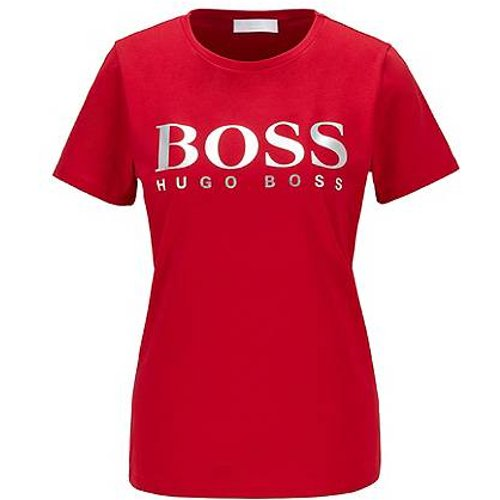 T-shirt en jersey de coton biologique, avec logo imprimé - Boss - Modalova