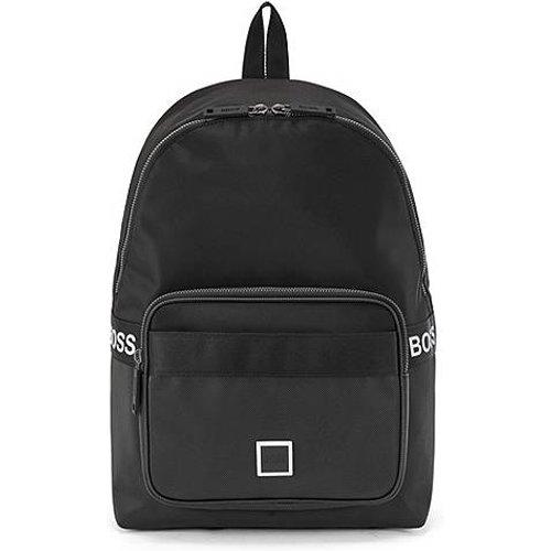 Sac à dos avec logo confectionné en nylon et similicuir emé - Boss - Modalova