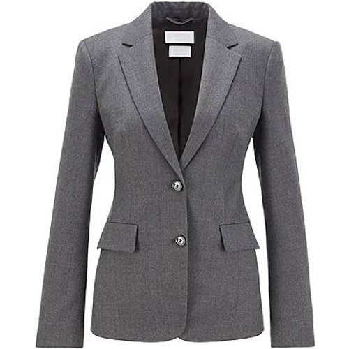 Veste Regular Fit en laine vierge traçable stretch - Boss - Modalova