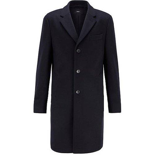 Manteau Slim Fit en laine vierge rehaussée de cachemire - Boss - Modalova