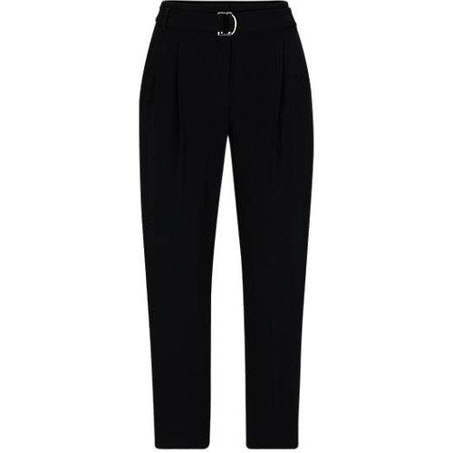 Pantalon Regular Fit en crêpe avec taille paper bag - Boss - Modalova