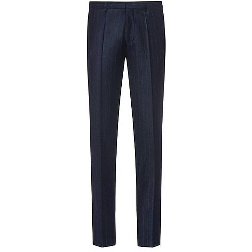 Pantalon Extra Slim Fit en laine vierge stretch - HUGO - Modalova