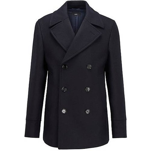 Manteau croisé en laine mélangée - Boss - Modalova