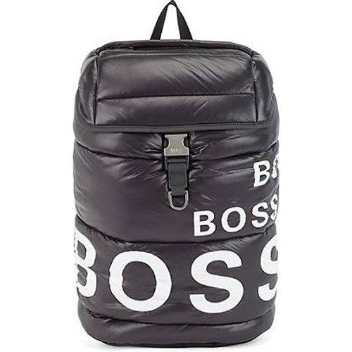 Sac à dos léger en nylon recyclé matelassé, avec imprimé logos - Boss - Modalova