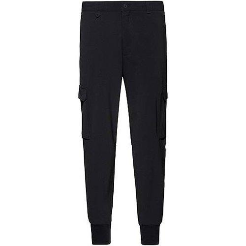 Pantalon cargo Slim Fit en twill stretch - HUGO - Modalova