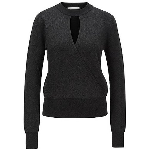 Pull Relaxed Fit en maille stretch métallisée - Boss - Modalova