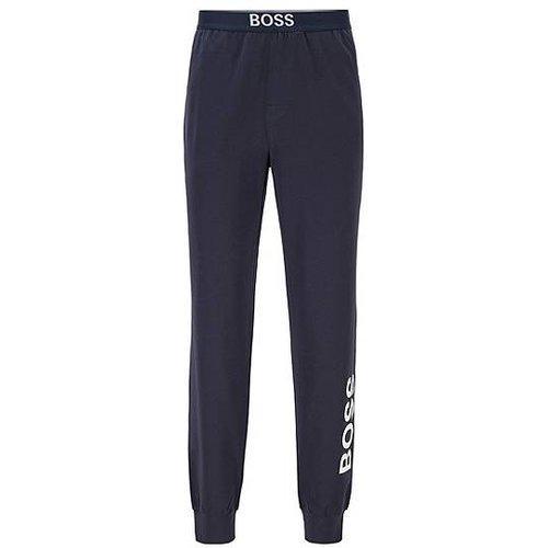 Pantalon de pyjama en coton stretch avec logo vertical - Boss - Modalova