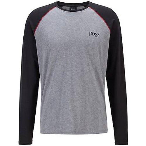T-shirt de pyjama à manches longues en coton mélangé - Boss - Modalova