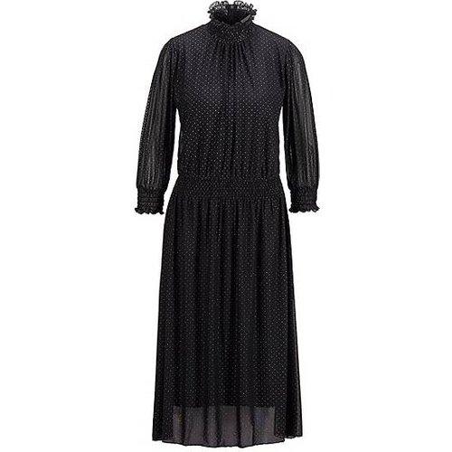 Robe en tulle à manches longues et imprimé pois, avec détails smockés - Boss - Modalova