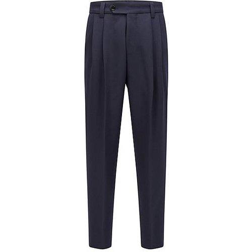 Pantalon à pinces habillé en tissu structuré - Boss - Modalova