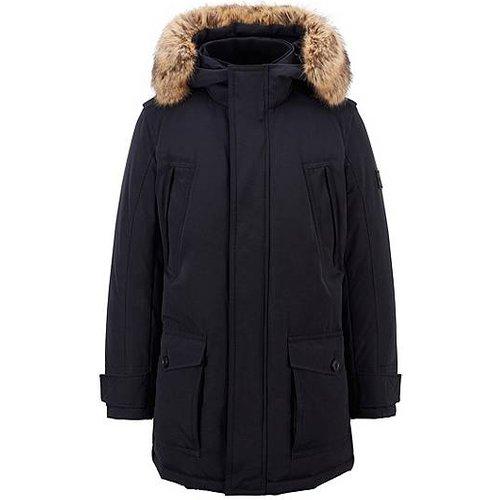 Manteau doudoune déperlant à finition amovible en fourrure synthétique - Boss - Modalova