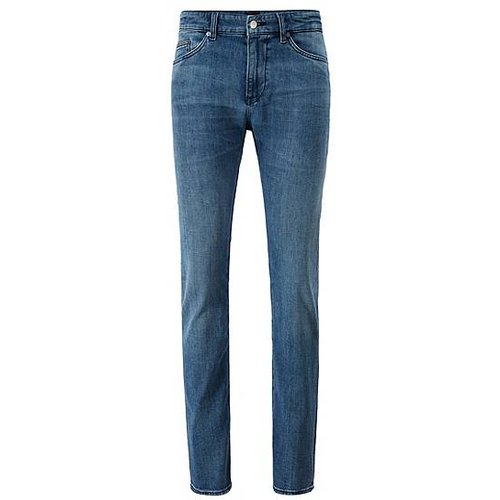Jean Slim Fit en denim effet cachemire - Boss - Modalova