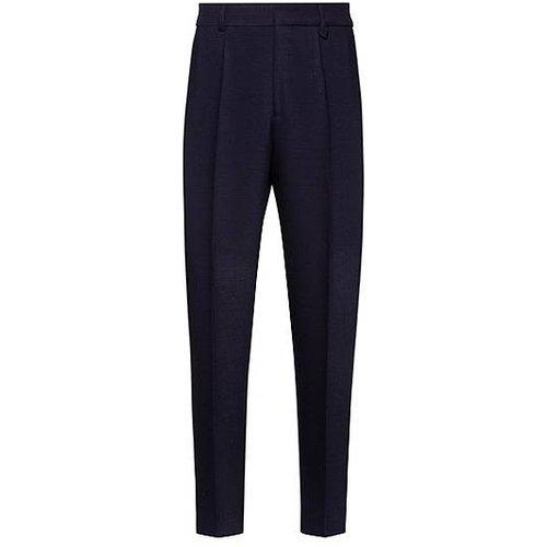 Pantalon Slim Fit à pinces en twill stretch - HUGO - Modalova