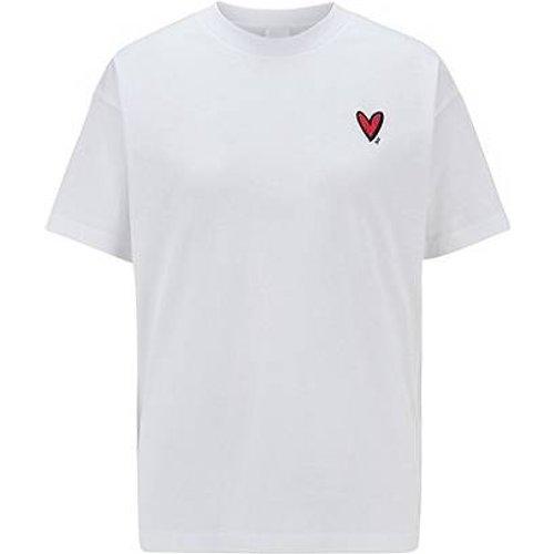 T-shirt Relaxed Fit avec cœur brodé et cristaux Swarovski® - Boss - Modalova