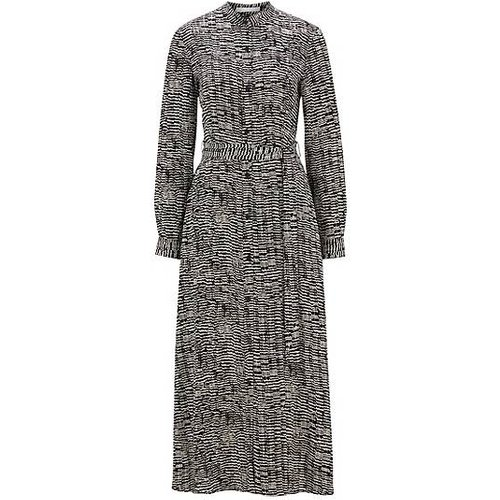 Robe-chemise longue à imprimé zébré - Boss - Modalova