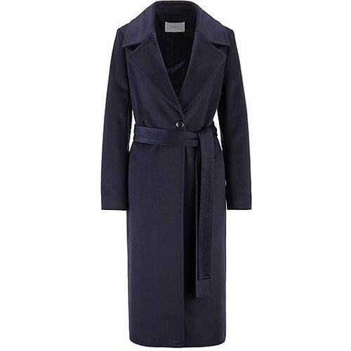 Manteau Relaxed Fit en laine vierge zibeline, avec ceinture - Boss - Modalova
