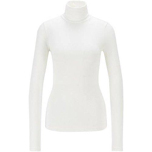 T-shirt à col cheminée en modal mélangé très doux - BOSS X CARO DAUR - Modalova