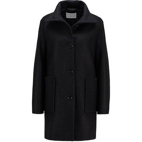 Manteau Relaxed Fit en laine bouillie avec poches plaquées - Boss - Modalova
