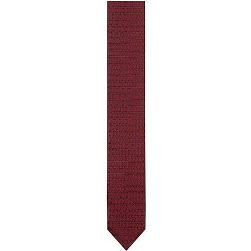 Cravate en soie à motif en jacquard tissé - HUGO - Modalova